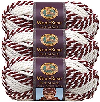 3Pk Lion Brand 640-536 Wool-Ease Thick /& Quick Yarn-Fossil