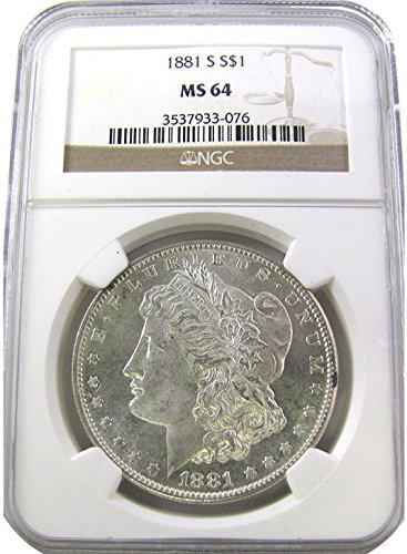 1881 S Morgan $1 MS64 NGC