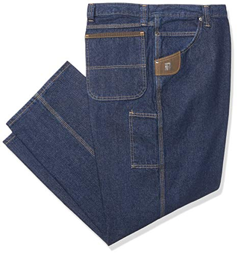 Wrangler Men's Riggs Big & Tall Workwear Carpenter Jean, Antique Indigo, 44x34