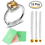 Ring Size Adjuster with Jewelry Polishing Cloth,Haicheng Ring Guard Ring Size Reducer Perfect for Loose Rings,3 Sizes for Any Rings,Set of 12