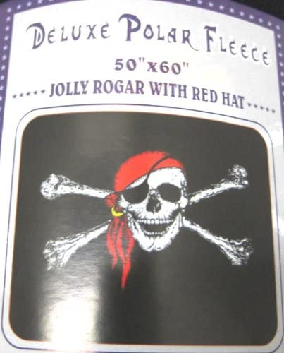 Jolly Roger With Patch Pirate Flag 50x60 Polar Fleece Blanket Throw