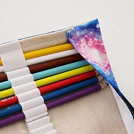 pieghevole tende per artisti matite studenti e pittori 43 * 20cm 36 Holes da viaggio Nowbetter Astuccio arrotolabile in tela per matite portapenne