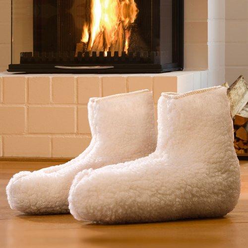 Chaussons de lit thermiques en agneau - taille 38 à 41