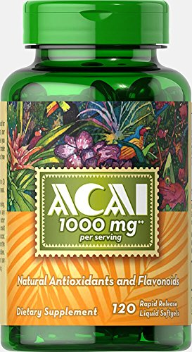 Puritan's Pride Acai 1000 mg-120 Softgels
