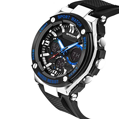 ZRDTH Men's Sport Watches Digital Quartz Watch Extreme Sport Watches (Blue) (Freezing Anime Box Set compare prices)
