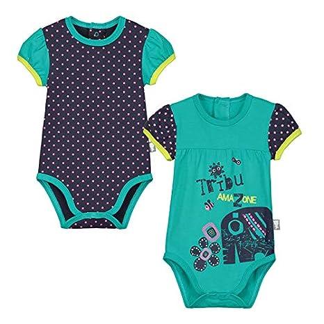 Lot de 2 bodies manches courtes bébé fille Matribu - Taille - 3 mois ... 61d44d75234