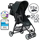 ZOE XL1 SPORT Xtra Lightweight Single Stroller (Black) Fits in Many Airplane Overhead Compartments as a Carry-On!
