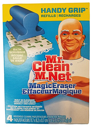 Price comparison product image Mr. Clean Magic Eraser Handy-Grip Bath Refills,  4 Count (Pack of 2)