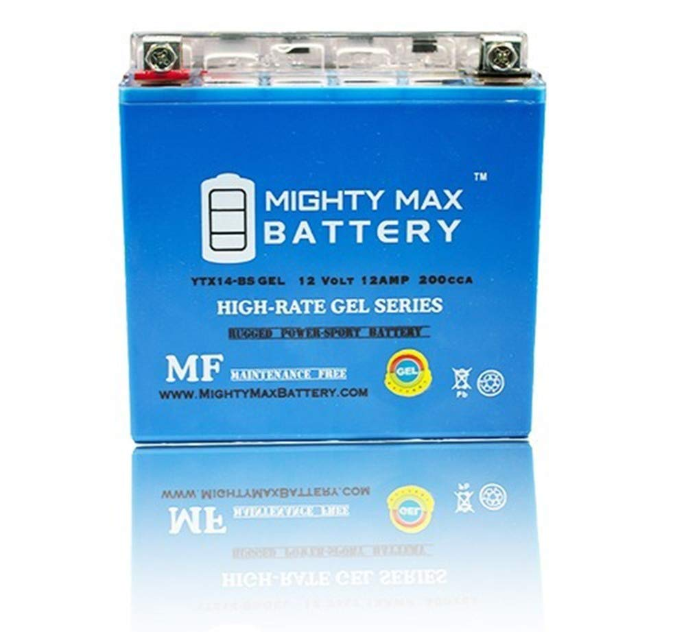 Mighty Max Battery YTX14-BS Gel Battery Replaces Mercedes Backup Auxiliary  2115410001 Brand Product