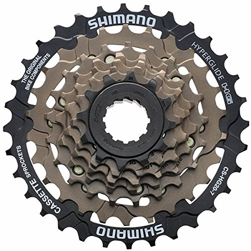 Shimano CS-HG20 7-Speed Cassette, Brown, 12-32T