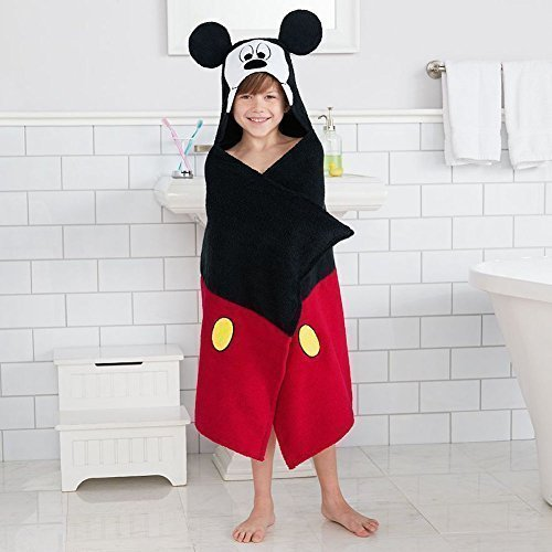 Disneys Mickey Mouse Bath Wrap Hooded Towel