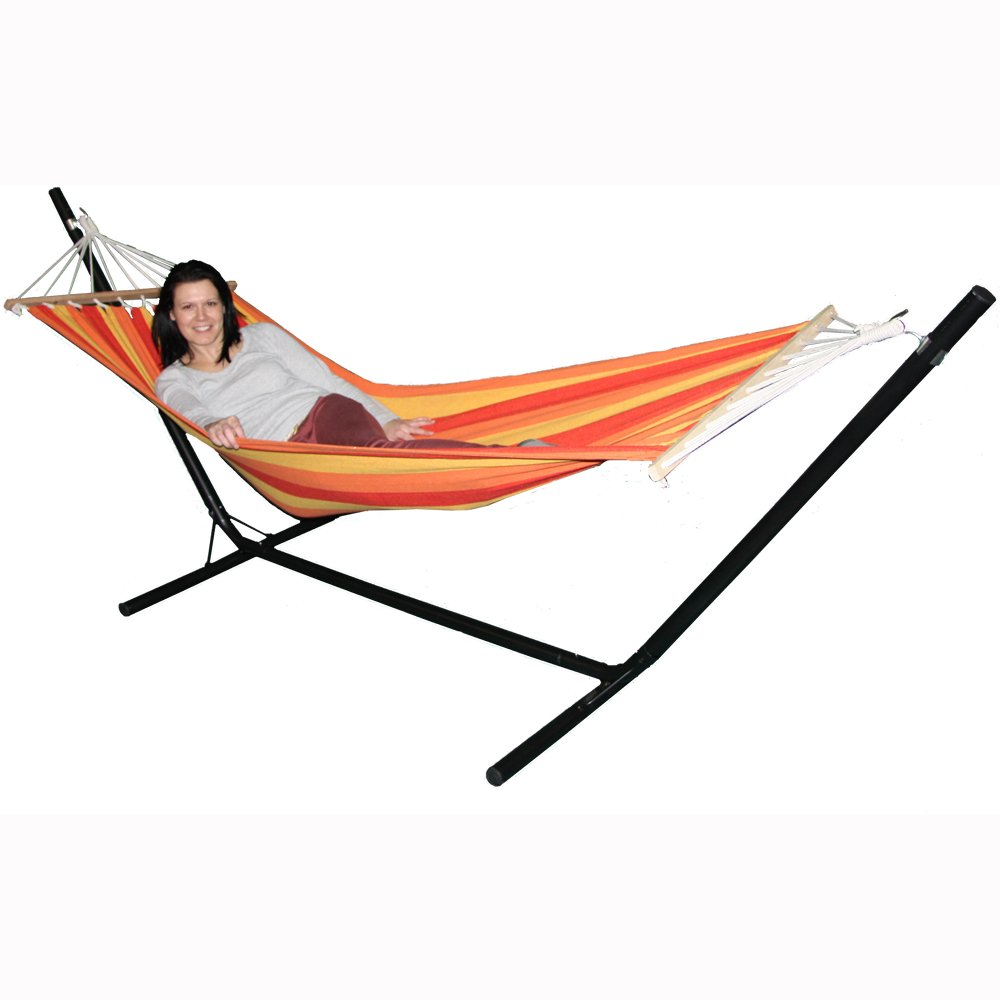 Redstone Hammock with Metal Stand - Huge 6ft 10in Hammock Length - 3 Height Options