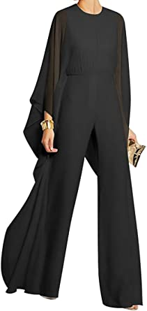Mfasica Womens Wide Leg Overall High Neck Long Pants Printed Romper