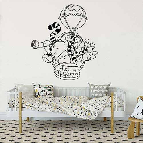 Winnie The Pooh Wall Decal Sticker Wall Stickers Mural Wall Decal Hot Air Balloon Vinyl Nursery Room Home Decoration for Nursery Kids Room Children Gift