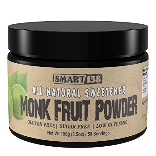 (Monk Fruit Blend - Only 2 Ingredients - Gluten Free, Sugar Free, Low Glycemic, Sweeten Coffee or Tea, Use in Baking)