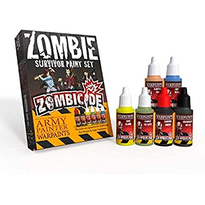 The Army Painter High-Pigment Zombicide Paints for Survivor Miniatures - 6 Dropper Bottle Zombicide Paint Set for Beginners and Advanced Hobbyists - Zombicide Survivor Paint Set: Toys & Games