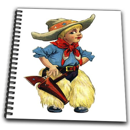 db_37467_2 Florene Childrens Art - Cute Cowgirl - Drawing Book - Memory Book 12 x 12 inch