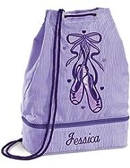 Personalized Kids Purple Ballet Bag, 16 Tall, Girls Ballet Tote