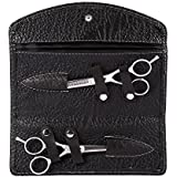 Hairdressing Scissors with Case, Professional Hair Cutting Barber Scissors PU Pouch Bag Hairdressing Styling Tool Kits