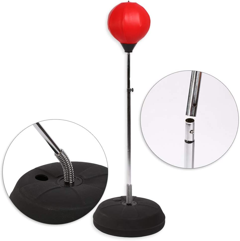 Ejoyous Boxing Punching Bag Free Standing Punching Ball Speed Bag Height Adjustable with Stand