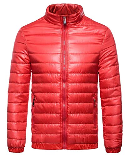 Red Puffer Packable Down Jacket Jacket Men's Outwear TTYLLMAO Down Lightweight xqwACPzY