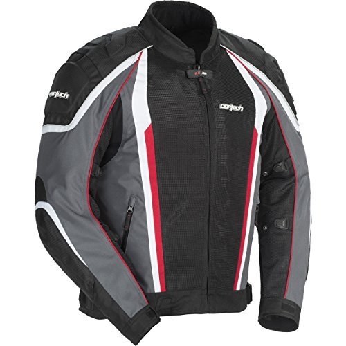 Cortech GX Sport Air 4.0 Adult Mesh Road Race Motorcycle Jacket - Gunmetal/Black / X-Large by Cortech