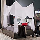 Canopy Bed Curtains Truedays Four Corner Post Bed Princess Canopy Mosquito Net, Full/Queen/King Size