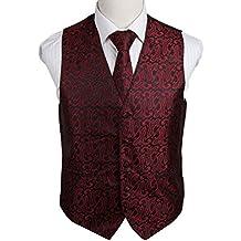 Epoint EGD2B.02 Marriage Paisley Microfiber Christmas Tuxedo Vest Necktie Set by