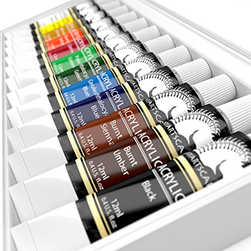 Acrylic paint set artist quality paints for painting for Professional painting supplies