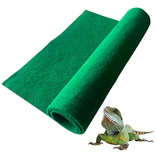 BLSMU Reptiles Carpet Terrarium Liner, Bearded Dragon Accessories Reptiles Cage Mat/Substrate for Lizards/Turtles/Snakes Iguana Supplies (10050cm)