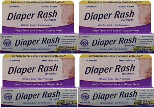 Diaper Rash Ointment to Prevent and Treat Diaper Rash Generic for Desitin Maximum Strength 40% Zinc Oxide 2 oz. per Tube Pack of 4 Overnight Itch Relief Cream