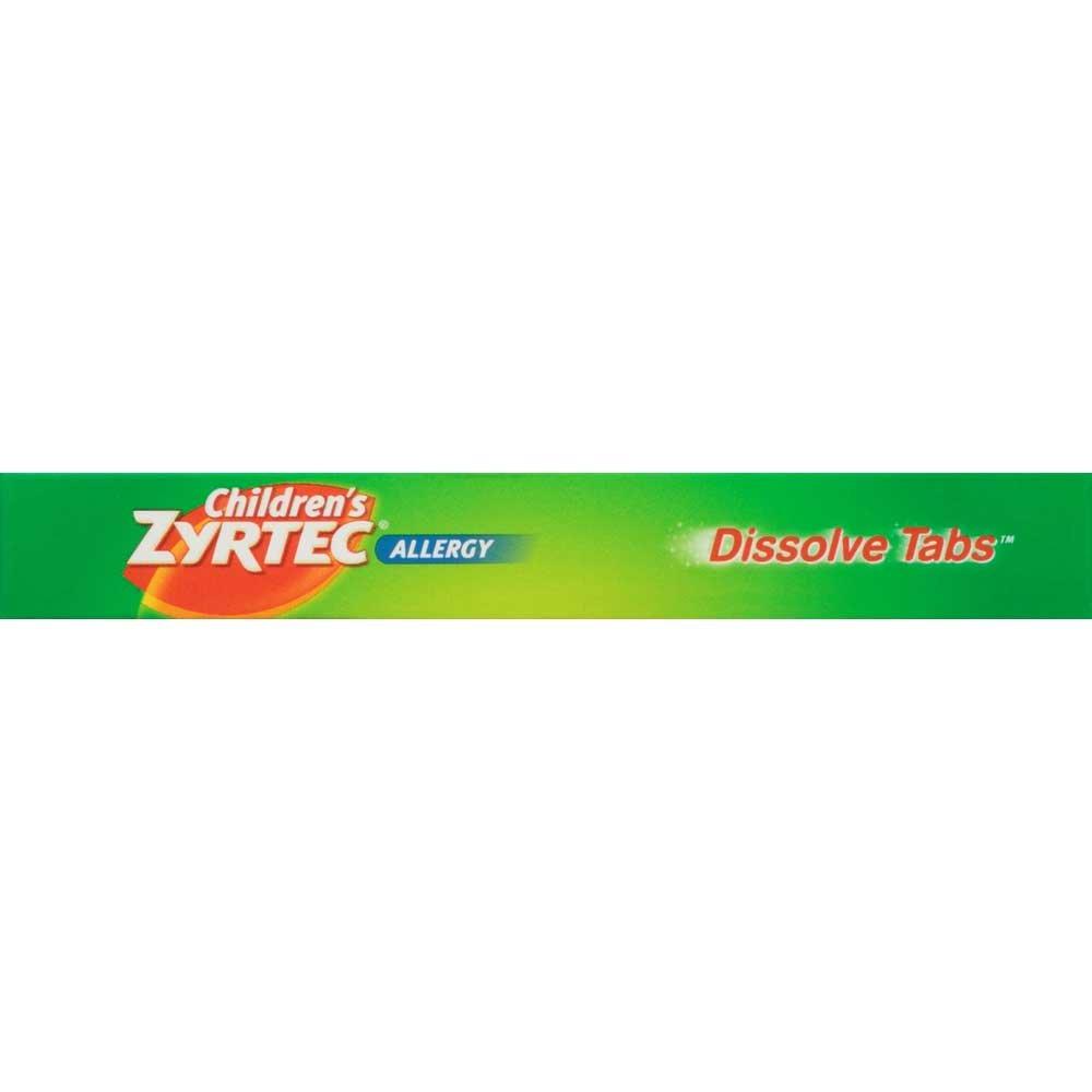 Zyrtec Childrens Citrus Allergy Dissolve Tabs - 12 per pack -- 24 packs per case.