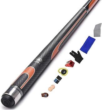 Snooker 1/2 tacos de billar, negro chino 8 tacos de billar, 57 pulgadas, 19 onzas, superior 12.75 mm/B / 147cm: Amazon.es: Bricolaje y herramientas