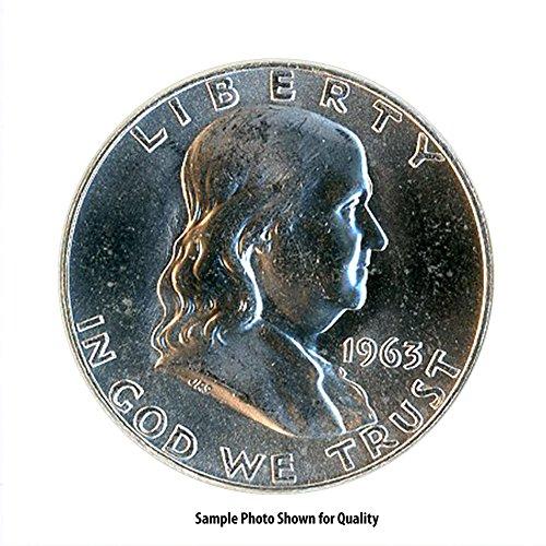 Uncirculated Franklin Mint - 1963 D Franklin Silver Half Dollar 50C Brilliant Uncirculated