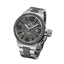 TW Steel CB205 Men's Canteen Grey Dial Two Tone Titanium Plated Steel Bracelet Automatic Watch by TW Steel