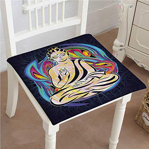Cushion New Person Doing Yoga Bohemian Zen Lifestyle Indian Tranquility Graphic Design Multi Indoor Garden Patio Home Kitchen Office Chair Pads Seat Pads 30