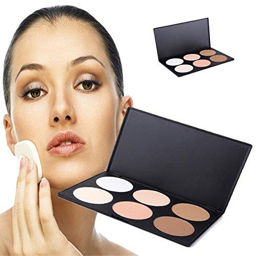 6 Color Contour Face Powder Makeup Blush Blusher Palette Grooming Powdery Cake Thin Face Foundation Makeup Palette