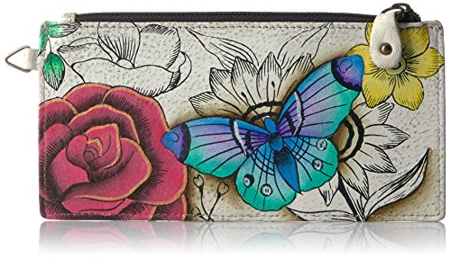 UPC 841236110152, Anna By Anuschka, Handpainted Leather Organizer Wallet,floral Paradise Credit Card Holder, FPD-FLORAL PARADISE, One Size