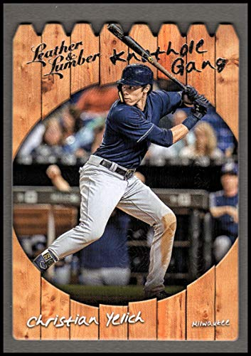 2019 Panini Leather and Lumber Knothole Gang #5 Christian Yelich - NM-MT