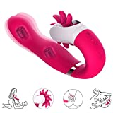 2 in 1 Silicone Wireless Body Training Vibrator - Rechargeable & Waterproof - 12 Frequency Relax Tool 600 Times per Minutes Body Safe Vibration Massager