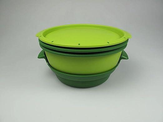 Tupperware 101° MicroGourmet - Juego de recipientes para cocinar al vapor en el microondas, varios colores: Amazon.es: Hogar