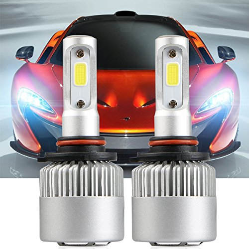 9005 LED Headlight Bulbs, LinkStyle 2PCS LED Headlights 9005 HB3 Waterproof 36W 6500K 8000Lumens Super Bright Cool White COB Chips Fog Light Cree Bulb High Low Beam All-in-One Conversion Kit (9005)