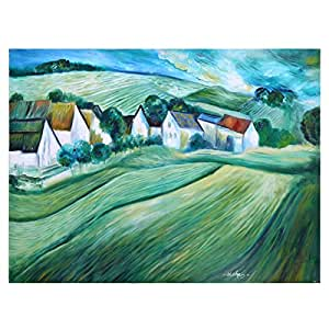 GrandUAE Canvas Multi Color Painting - Landscape