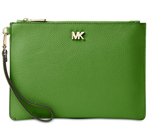 Medium Leather Pouch - True Green ()