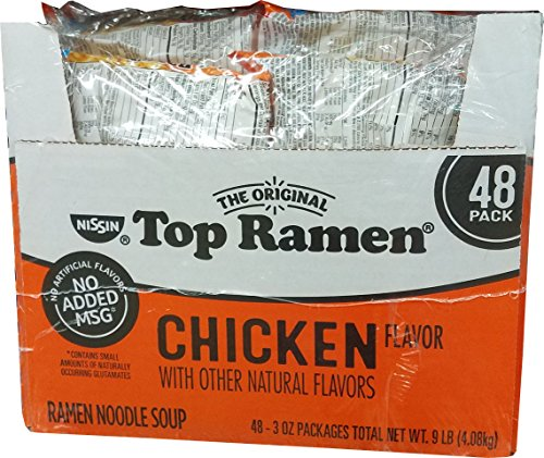 Top Ramen Chicken Flavor Ramen Noodle Soup - 48 Pack