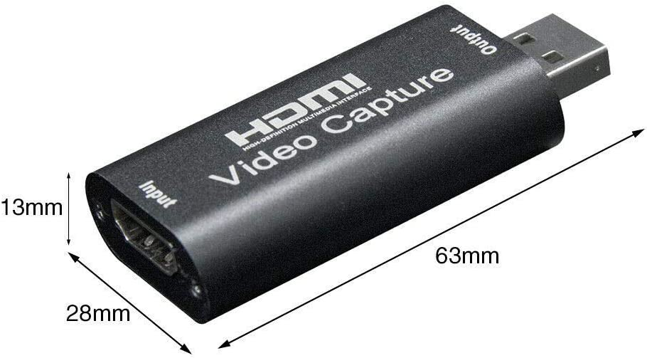 SAIZHUO HDMI to USB Audio Video Capture Cards 1080p USB2.0 for DSLR Camcorder Action Cam