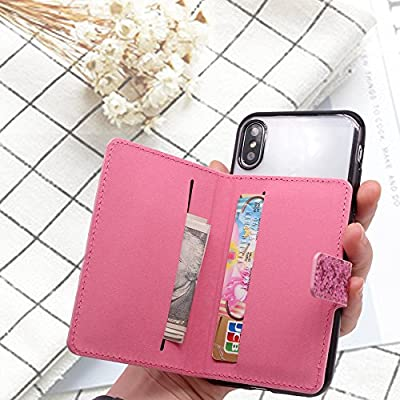 3M Adhesive ClarksZone Flip Card Holder for Back of Phone Sequins Glitter Wallet Case Stick On Slim Credit Card ID Card Slot for Android//IOS,Galaxy S8//S8 Plus,Note 9//8,A8+,iPhone X Max//XR//XS//7//8 Plus
