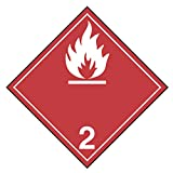 INCOM Manufacturing: T.D.G. Dangerous Goods Placards, Flammable Gases Class 2.1, Adhesive Vinyl