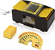 Talent Star Automatic Card Shuffler 2 Deck Card, 2 Deck USB/Battery Operated Electric Card Shufflers, Card Shu