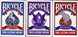 : 3 Decks Bicycle 2008 Election Edition Playing Cards